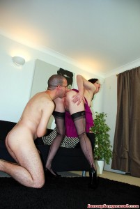 British housewife gets spanked & fucked